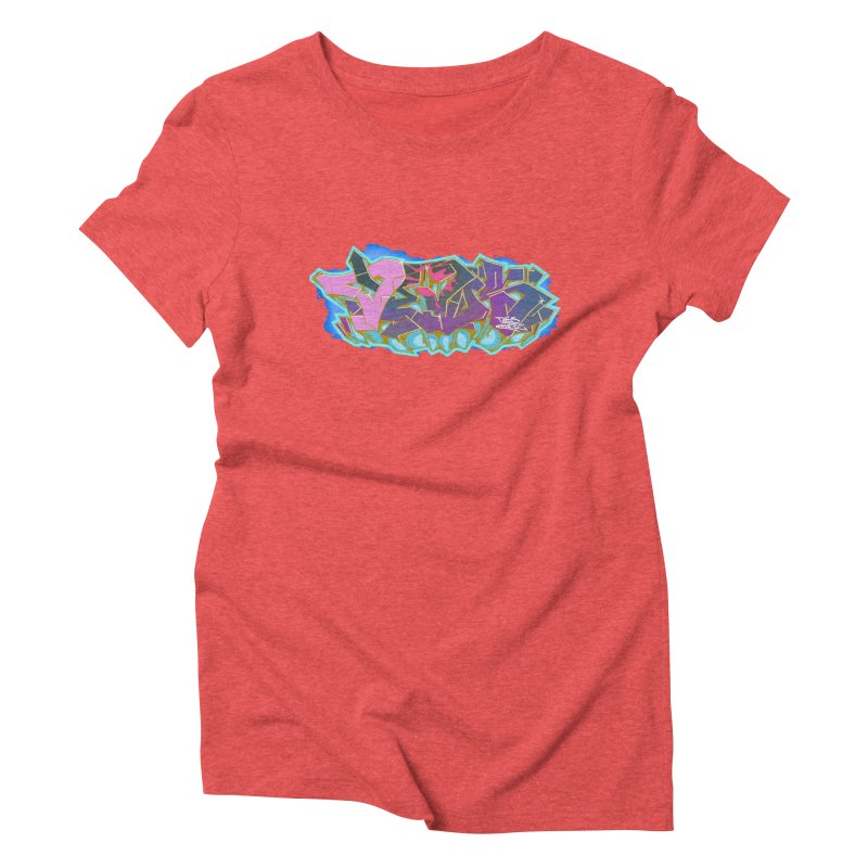 Dedos Graffiti letters 4 Women's Triblend T-Shirt by Dedos tees