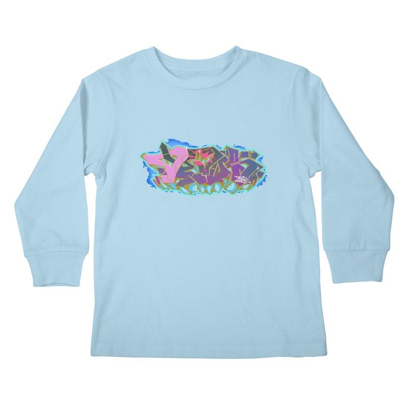Dedos Graffiti letters 4 Kids Longsleeve T-Shirt by Dedos tees