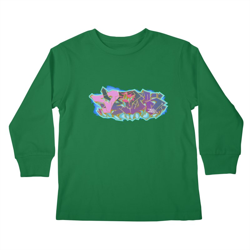 Dedos Graffiti letters 4 Kids Longsleeve T-Shirt by Dedos tees