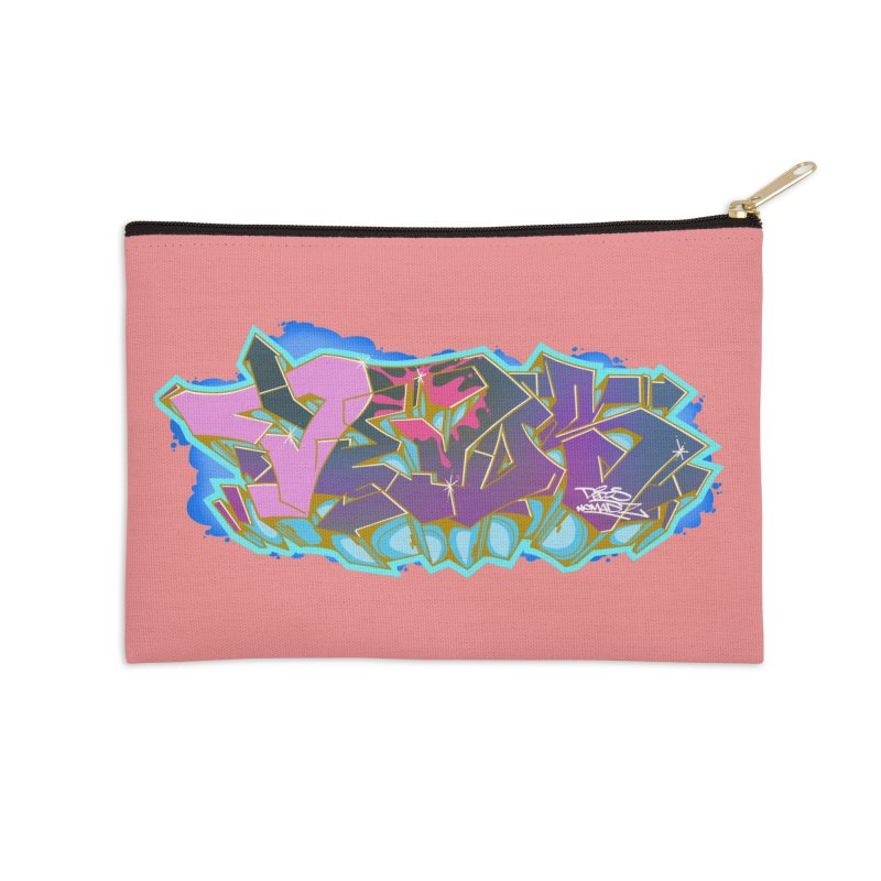 Dedos Graffiti letters 4 Accessories Zip Pouch by Dedos tees