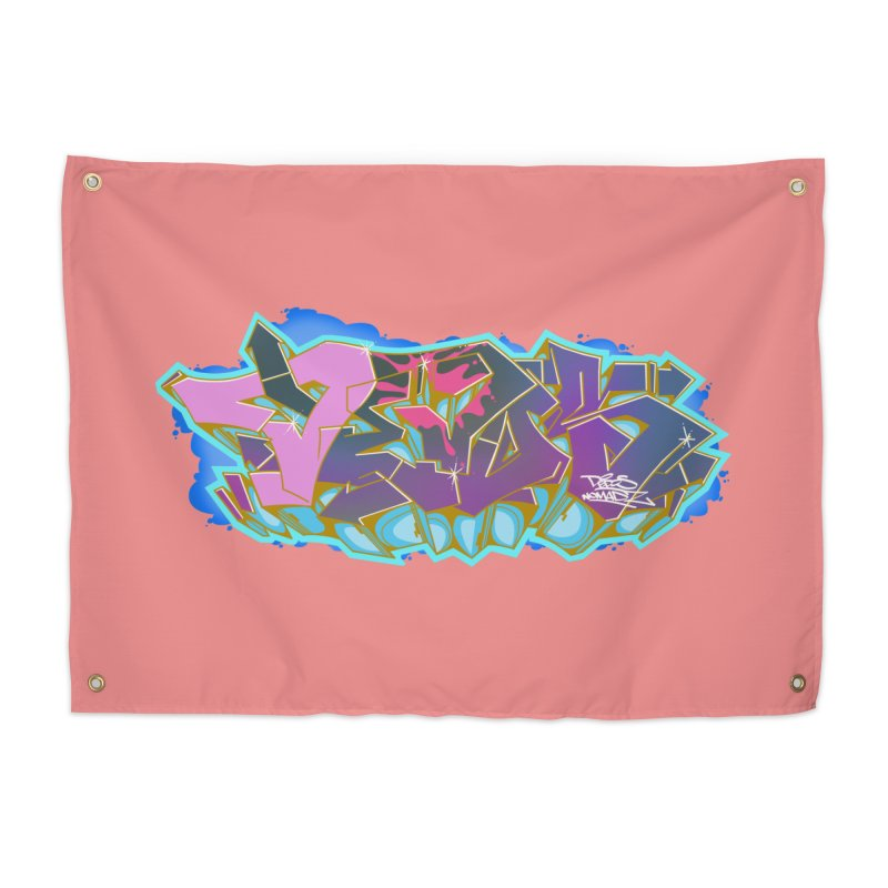 Dedos Graffiti letters 4 Home Tapestry by Dedos tees