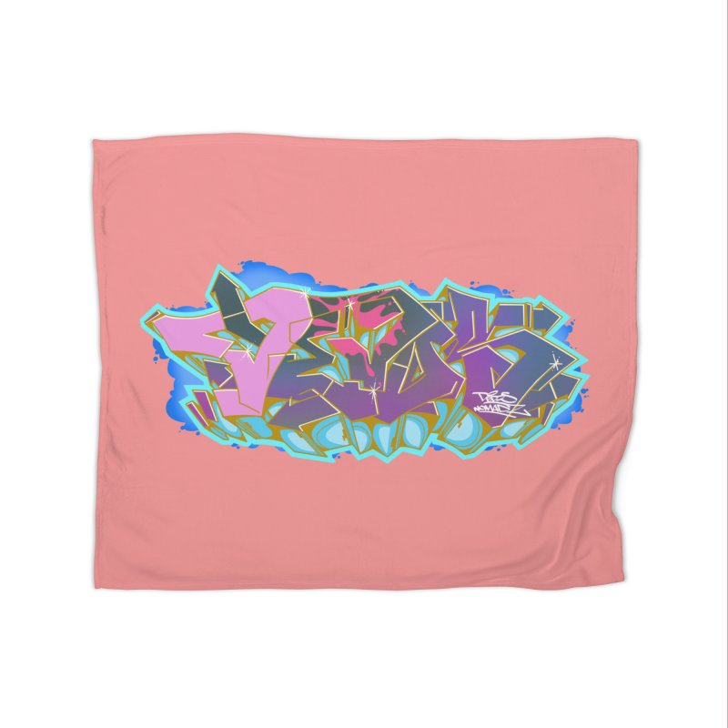 Dedos Graffiti letters 4 Home Fleece Blanket by Dedos tees