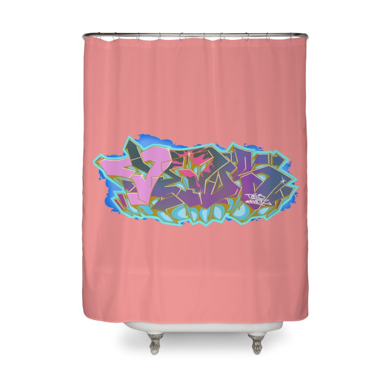 Dedos Graffiti letters 4 Home Shower Curtain by Dedos tees