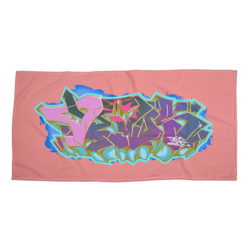 Dedos Graffiti letters 4 Accessories Beach Towel by Dedos tees