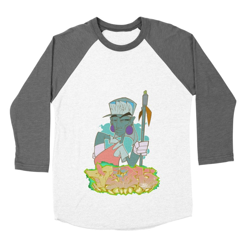 Bboy Azteca Women's Baseball Triblend Longsleeve T-Shirt by Dedos tees