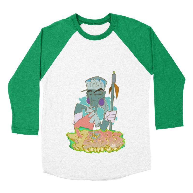 Bboy Azteca Women's Baseball Triblend T-Shirt by Dedos tees
