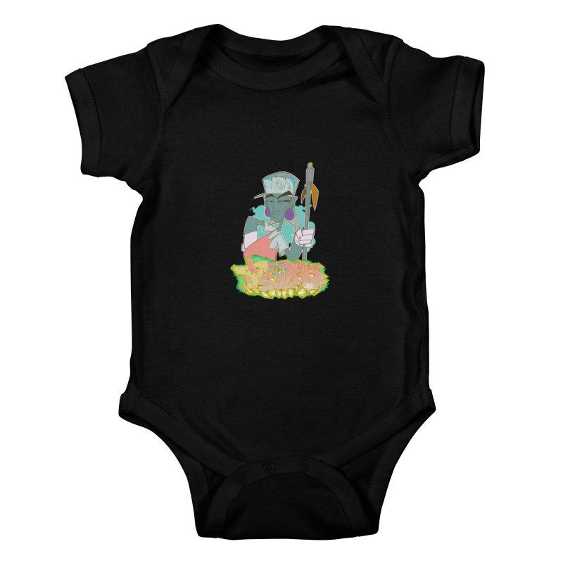 Bboy Azteca Kids Baby Bodysuit by Dedos tees