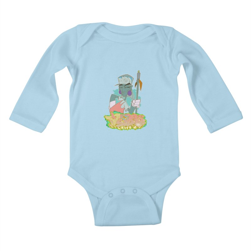 Bboy Azteca Kids Baby Longsleeve Bodysuit by Dedos tees