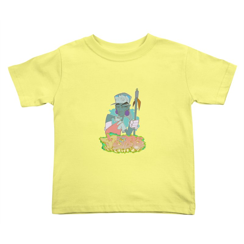 Bboy Azteca Kids Toddler T-Shirt by Dedos tees