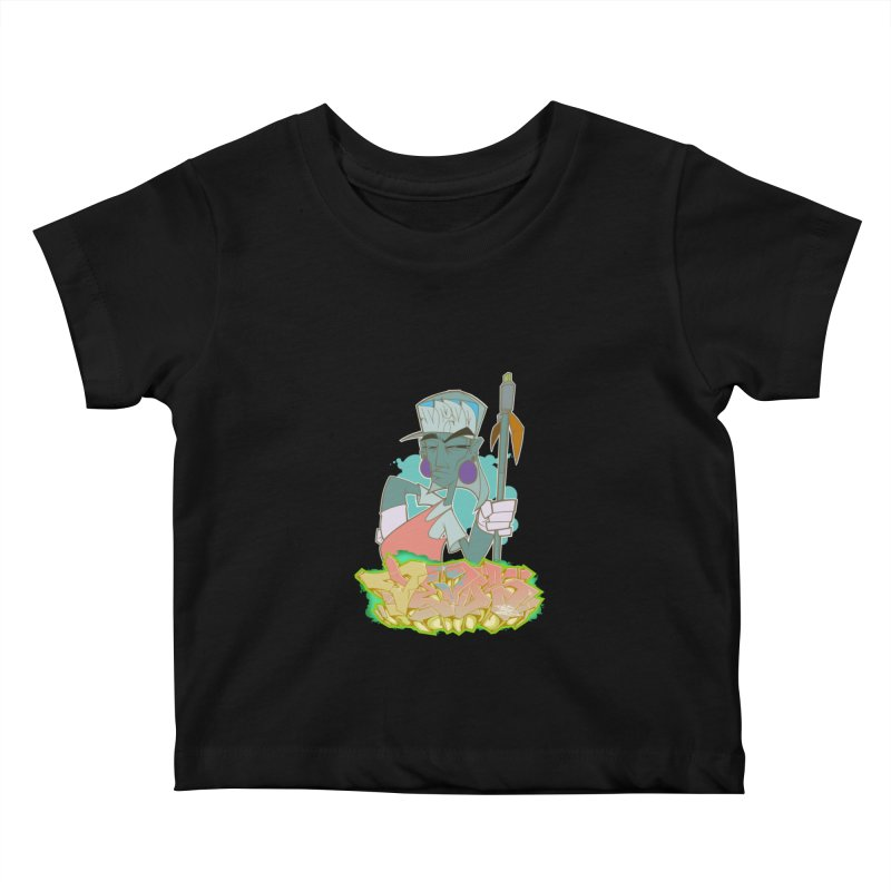 Bboy Azteca Kids Baby T-Shirt by Dedos tees
