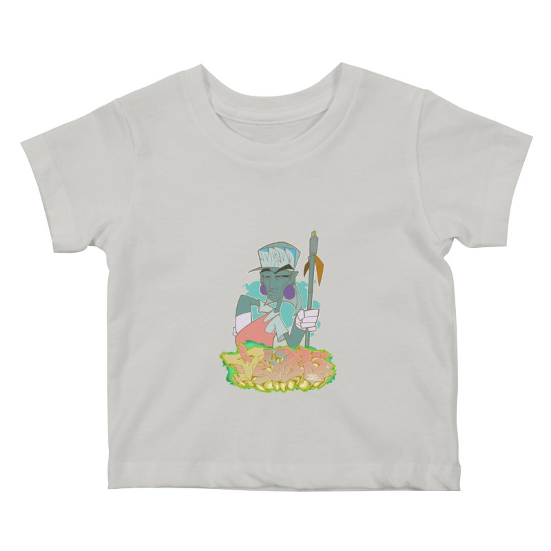 Bboy Azteca Kids Baby T-Shirt by Dedos tees