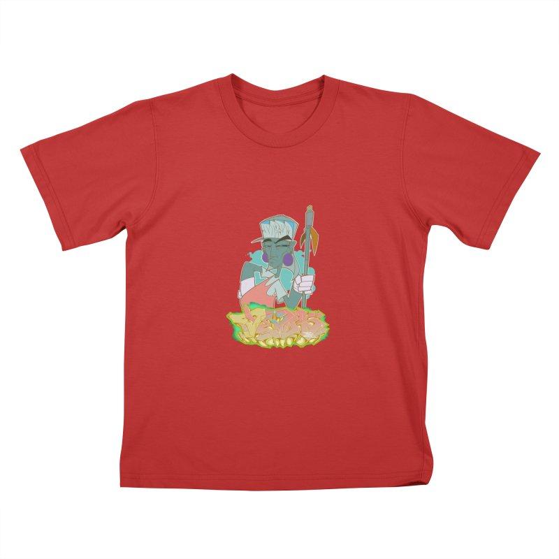 Bboy Azteca Kids T-Shirt by Dedos tees