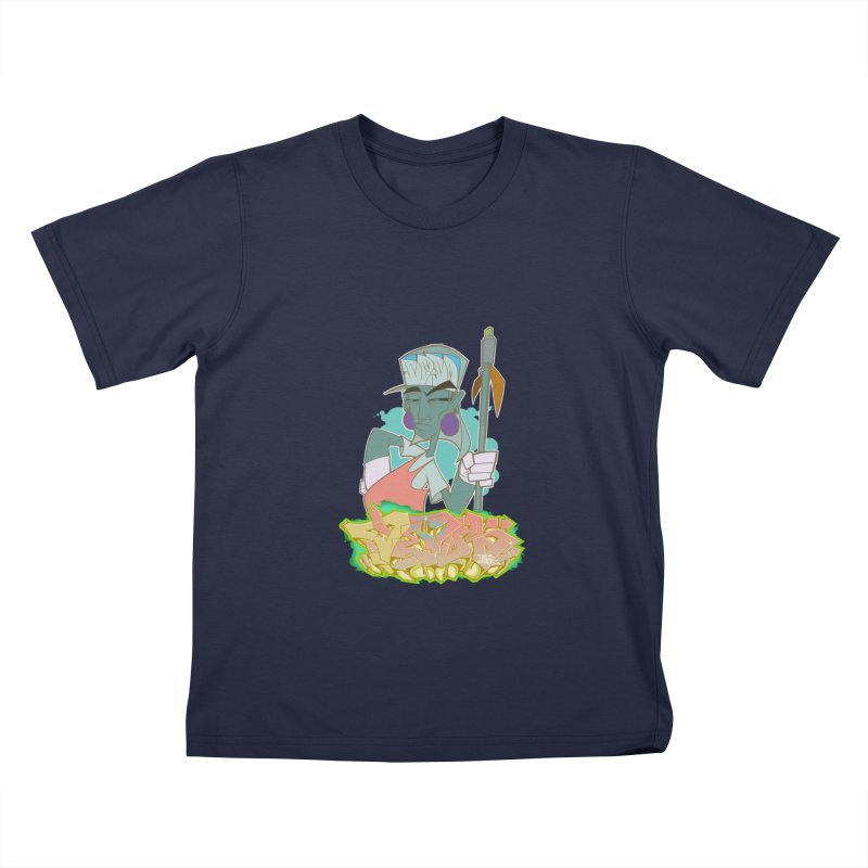 Bboy Azteca Kids T-Shirt by Dedos tees