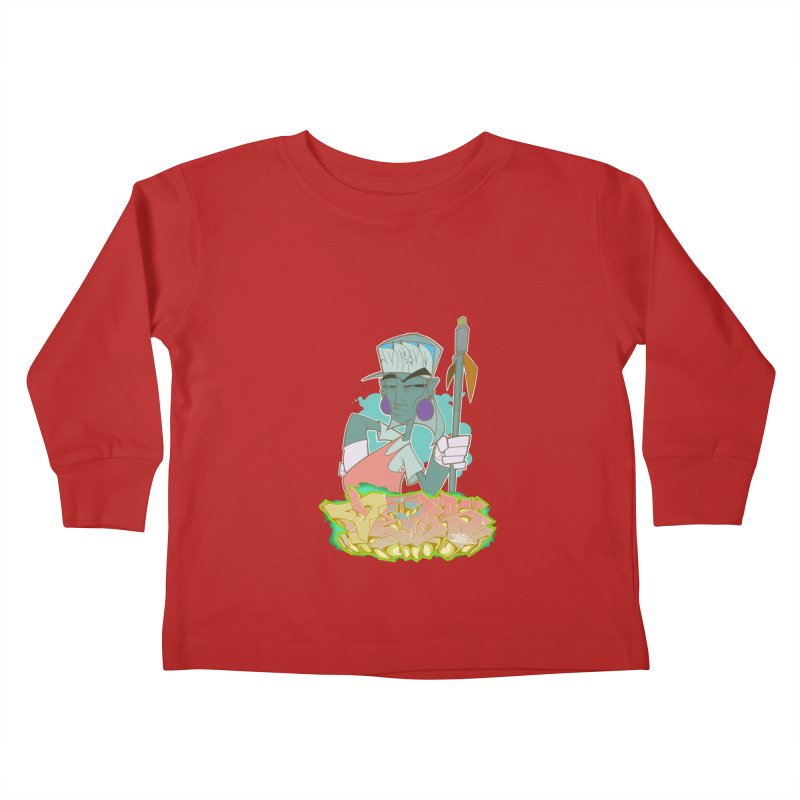 Bboy Azteca Kids Toddler Longsleeve T-Shirt by Dedos tees