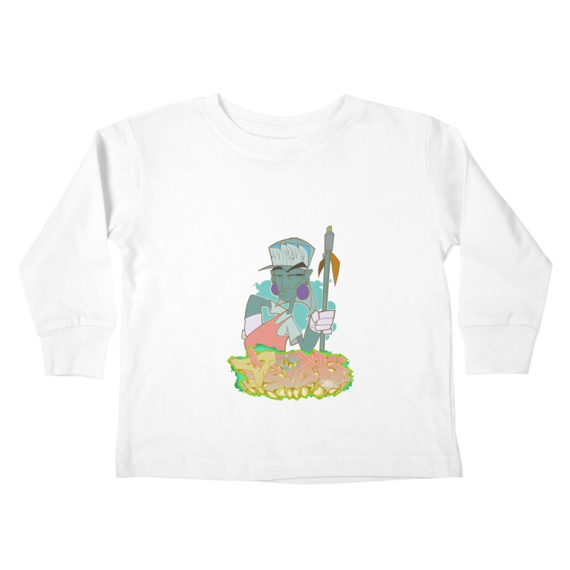 Bboy Azteca Kids Toddler Longsleeve T-Shirt by Dedos tees