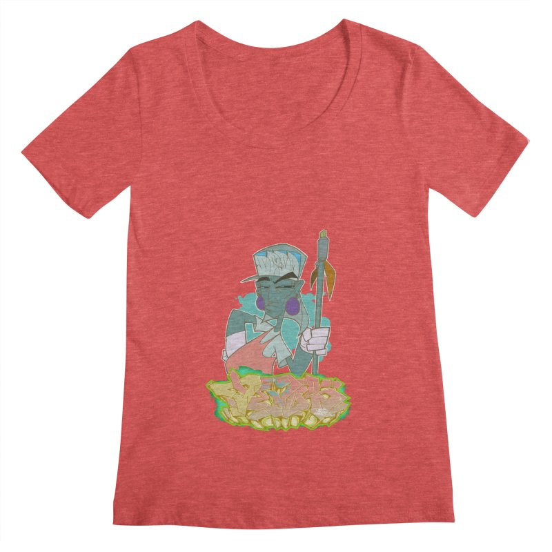 Bboy Azteca Women's Scoopneck by Dedos tees