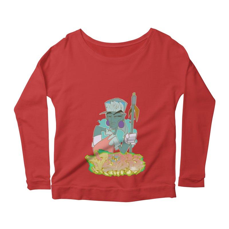 Bboy Azteca Women's Scoop Neck Longsleeve T-Shirt by Dedos tees