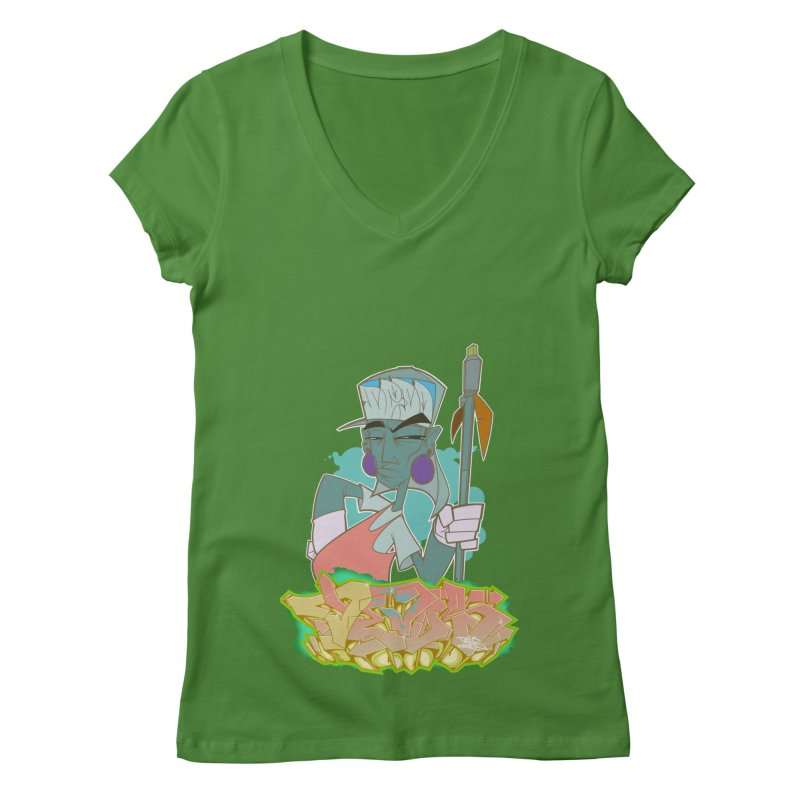 Bboy Azteca Women's Regular V-Neck by Dedos tees