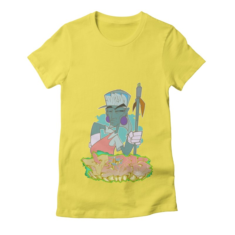 Bboy Azteca Women's Fitted T-Shirt by Dedos tees