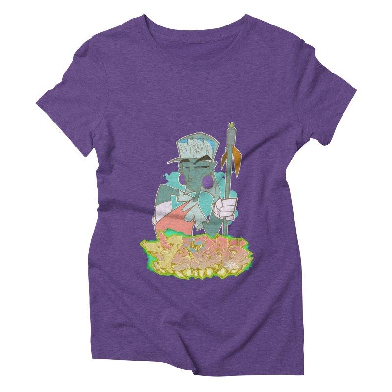 Bboy Azteca Women's Triblend T-shirt by Dedos tees