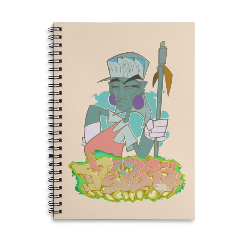 Bboy Azteca Accessories Lined Spiral Notebook by Dedos tees