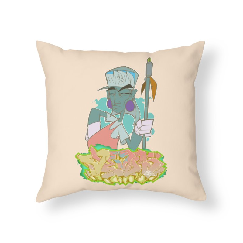 Bboy Azteca Home Throw Pillow by Dedos tees