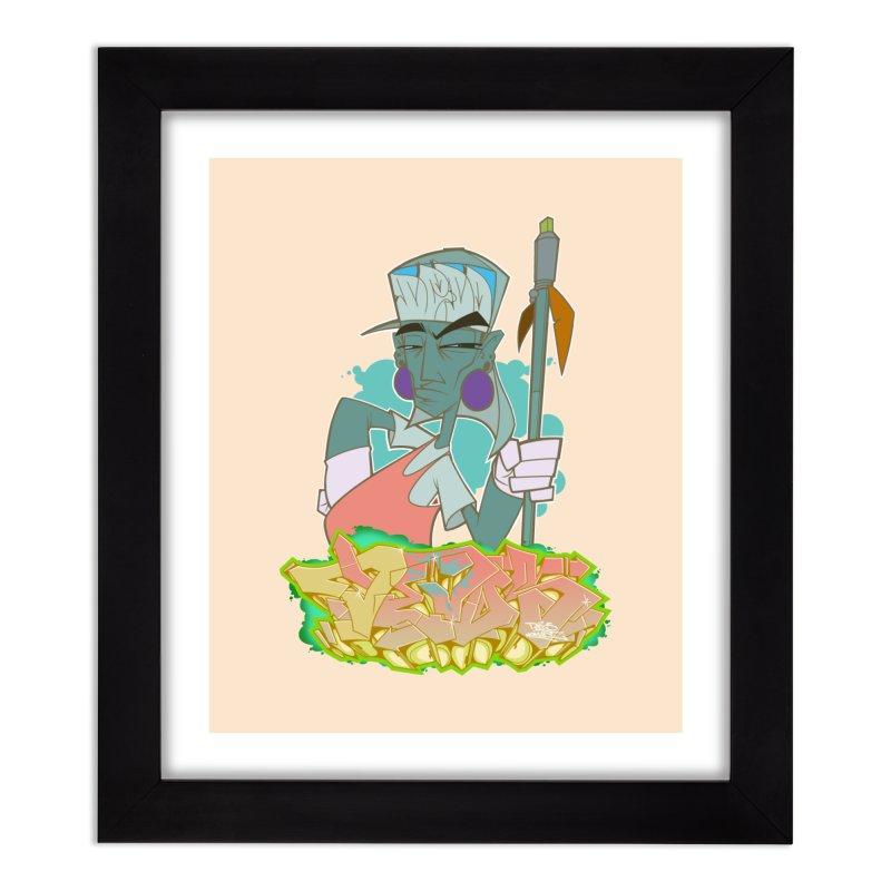 Bboy Azteca Home Framed Fine Art Print by Dedos tees