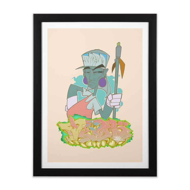 Bboy Azteca Home Framed Fine Art Print by Dedos tees