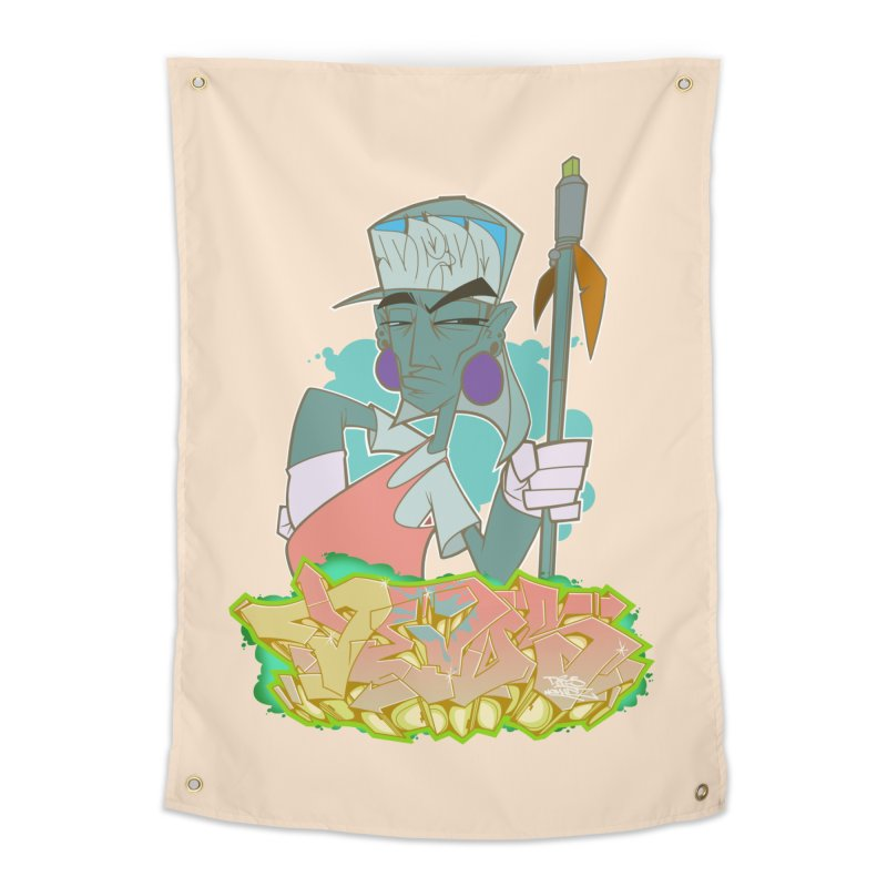 Bboy Azteca Home Tapestry by Dedos tees