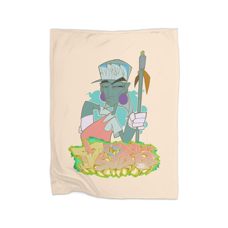 Bboy Azteca Home Fleece Blanket by Dedos tees