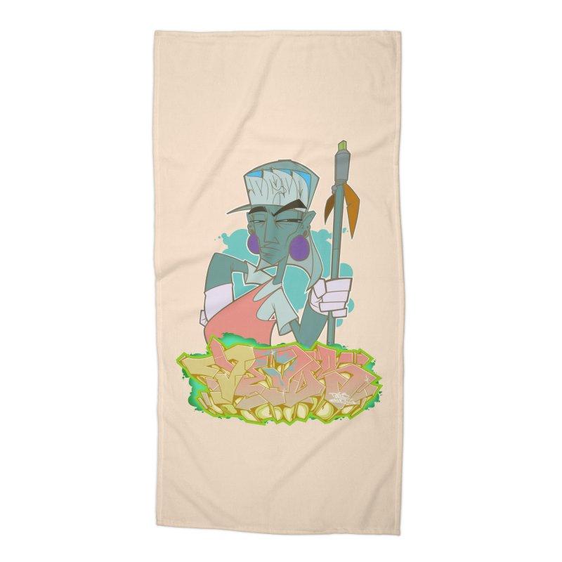 Bboy Azteca Accessories Beach Towel by Dedos tees