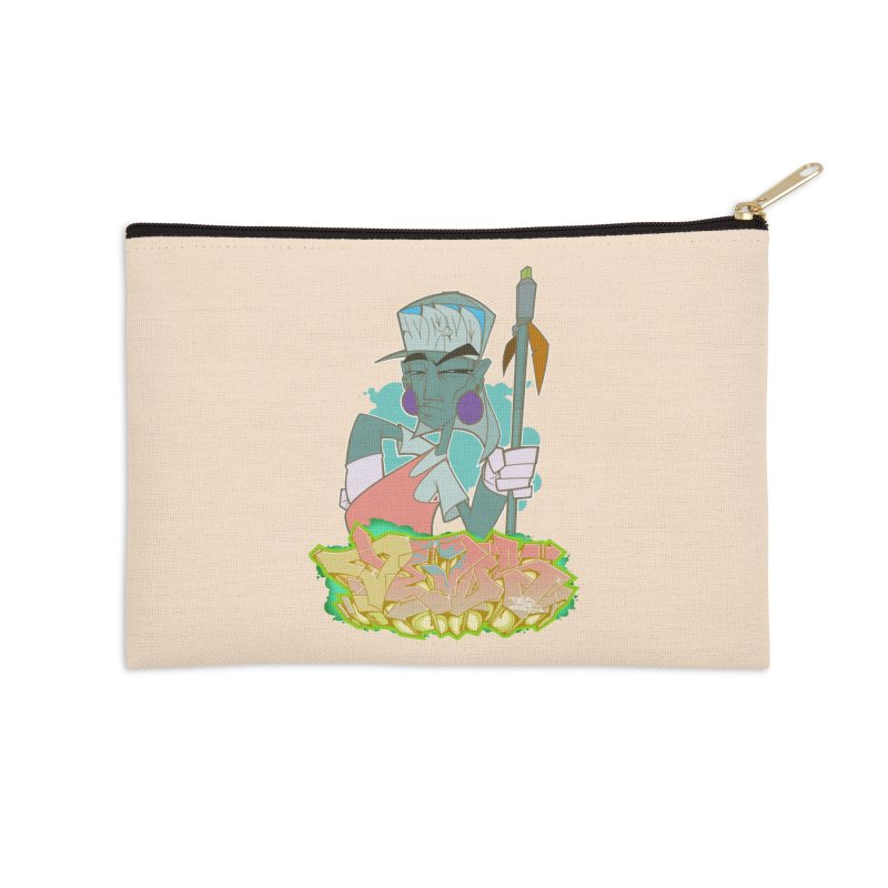 Bboy Azteca Accessories Zip Pouch by Dedos tees