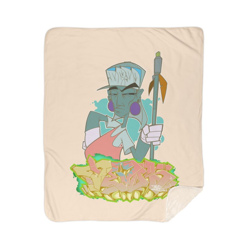 Bboy Azteca Home Sherpa Blanket Blanket by Dedos tees