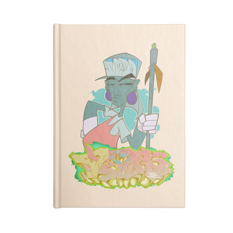 Bboy Azteca Accessories Lined Journal Notebook by Dedos tees
