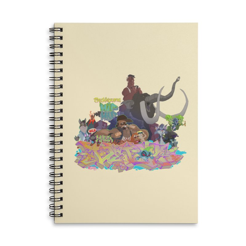 Prehistoric hip Hop Accessories Lined Spiral Notebook by Dedos tees