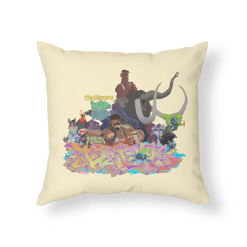 Prehistoric hip Hop Home Throw Pillow by Dedos tees