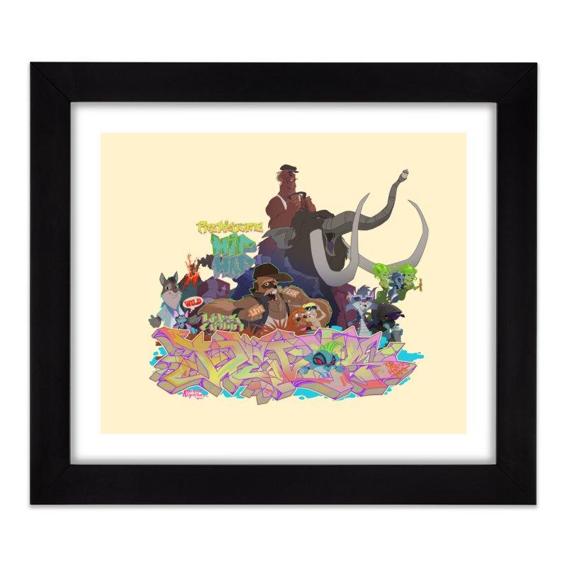 Prehistoric hip Hop Home Framed Fine Art Print by Dedos tees