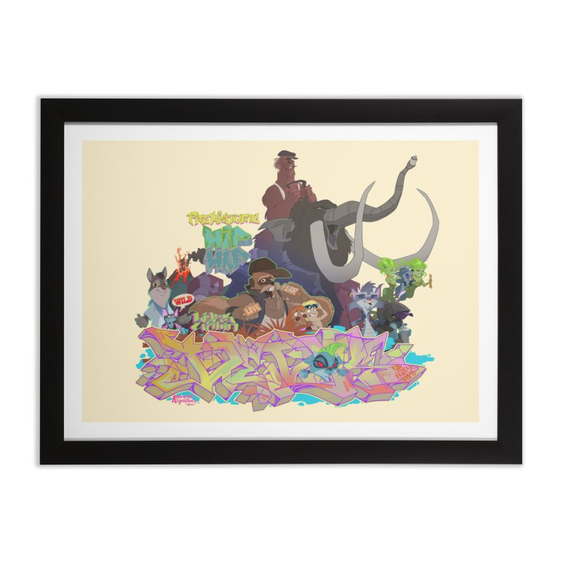 Prehistoric hip Hop Home Framed Fine Art Print by Dedos tees