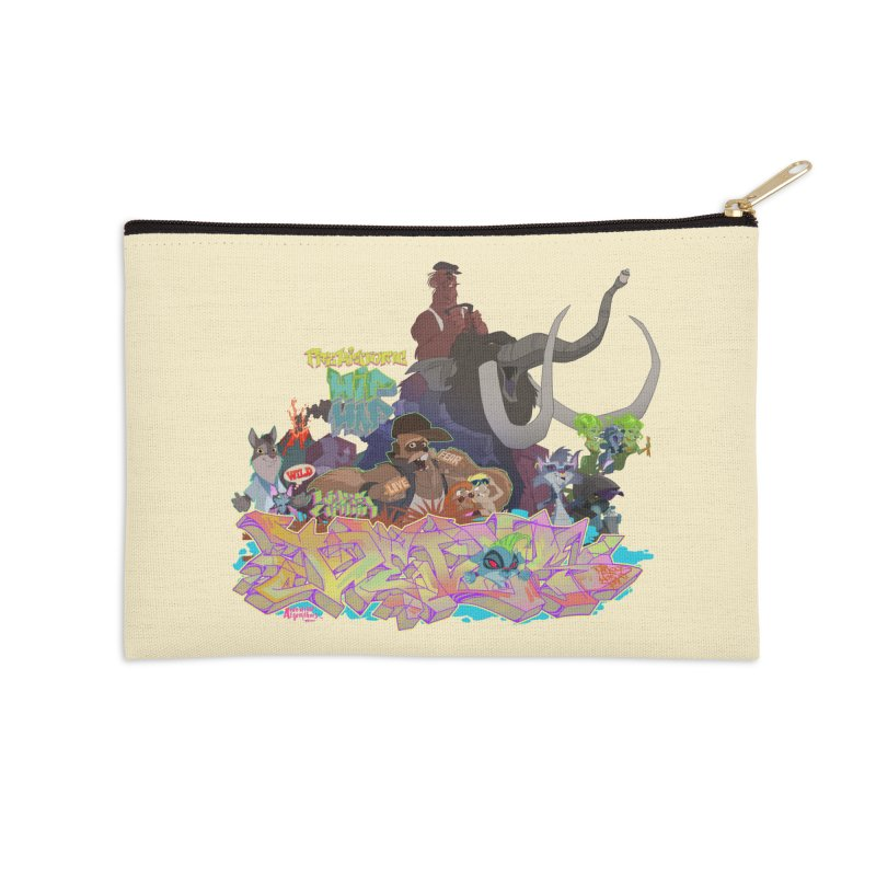 Prehistoric hip Hop Accessories Zip Pouch by Dedos tees