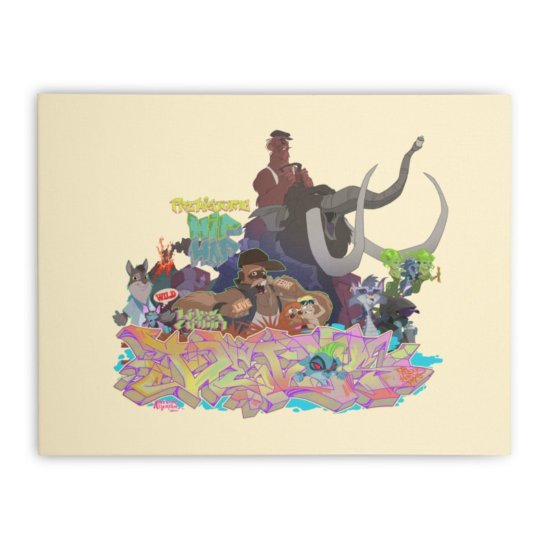 Prehistoric hip Hop Home Stretched Canvas by Dedos tees