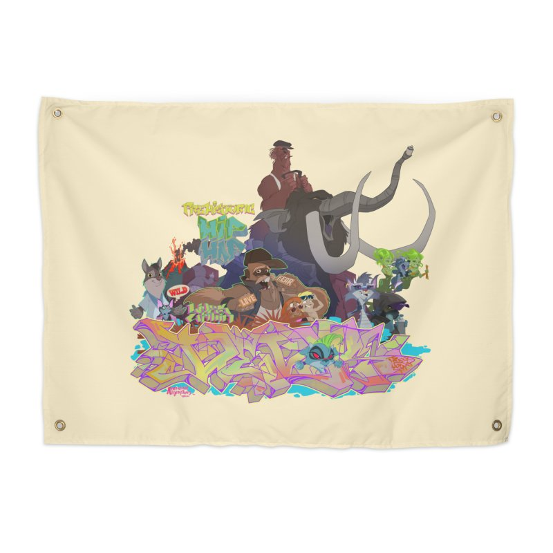 Prehistoric hip Hop Home Tapestry by Dedos tees