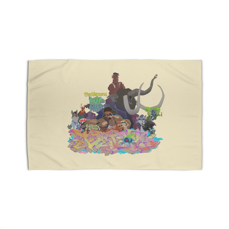 Prehistoric hip Hop Home Rug by Dedos tees