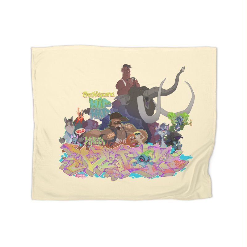 Prehistoric hip Hop Home Fleece Blanket by Dedos tees
