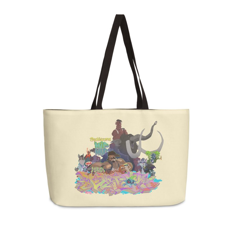 Prehistoric hip Hop Accessories Weekender Bag Bag by Dedos tees