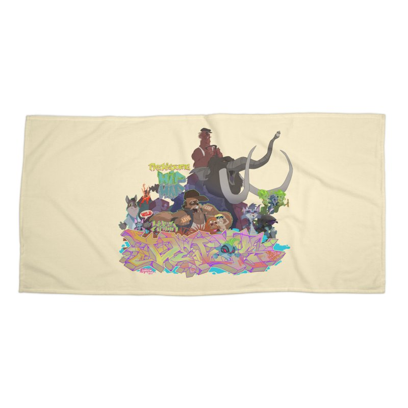 Prehistoric hip Hop Accessories Beach Towel by Dedos tees