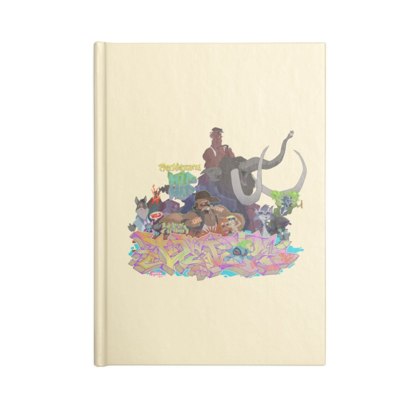 Prehistoric hip Hop Accessories Notebook by Dedos tees