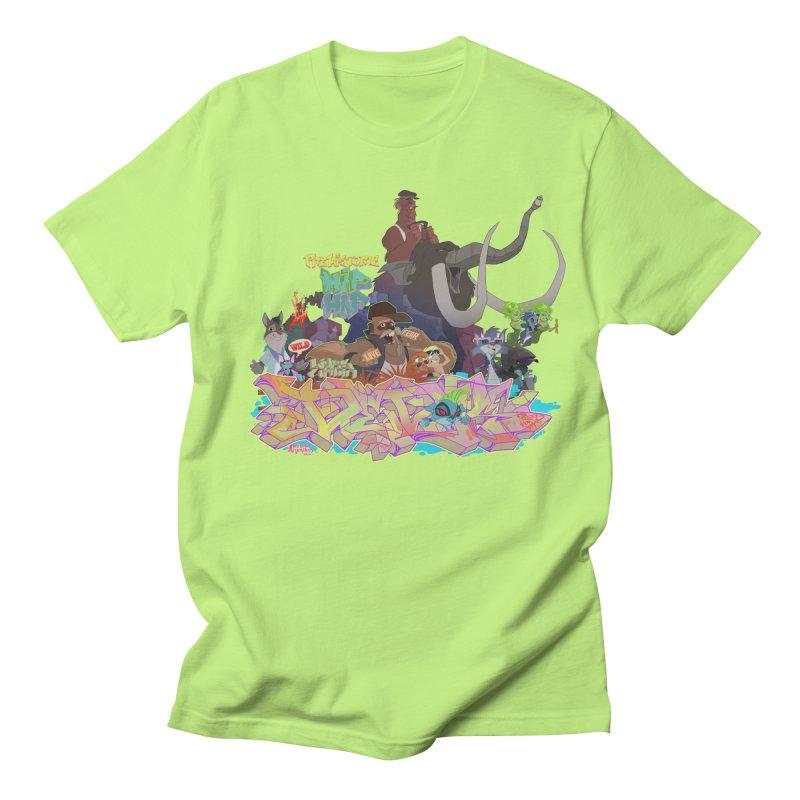 Prehistoric hip Hop in Men's Regular T-Shirt Neon Green by Dedos tees