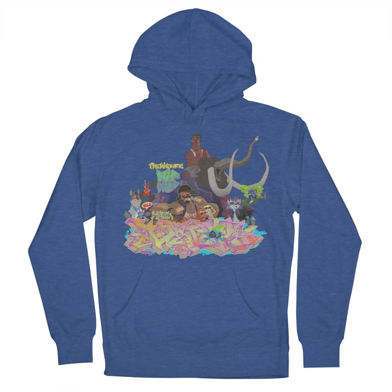 Prehistoric hip Hop Women's French Terry Pullover Hoody by Dedos tees
