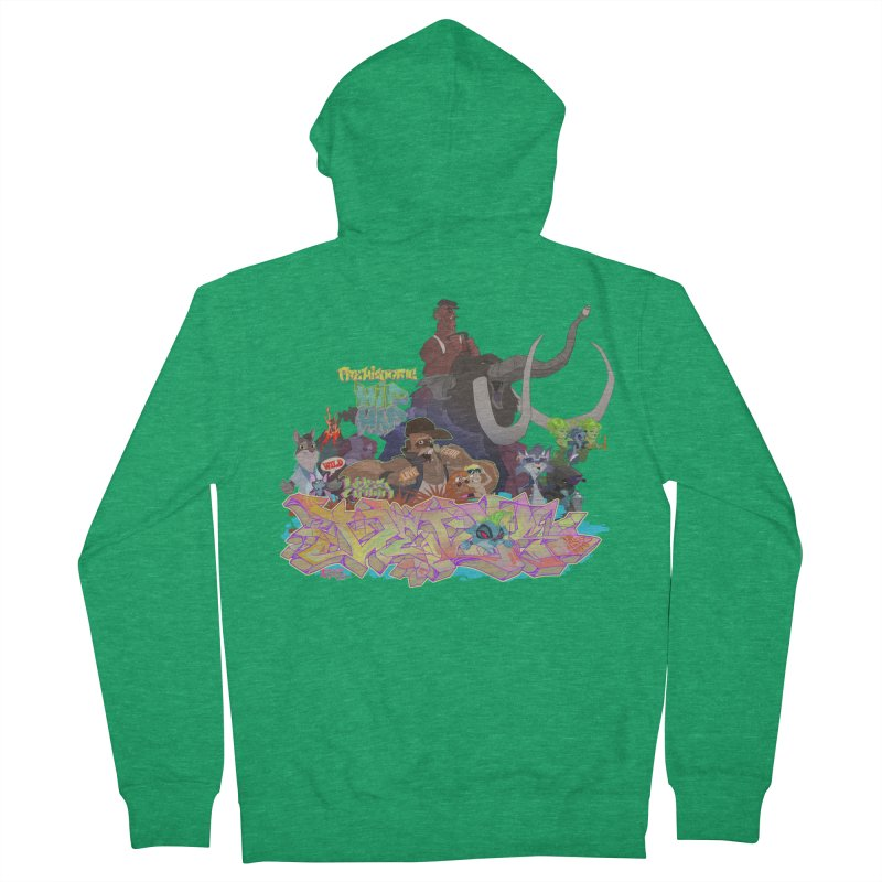 Prehistoric hip Hop Women's French Terry Zip-Up Hoody by Dedos tees