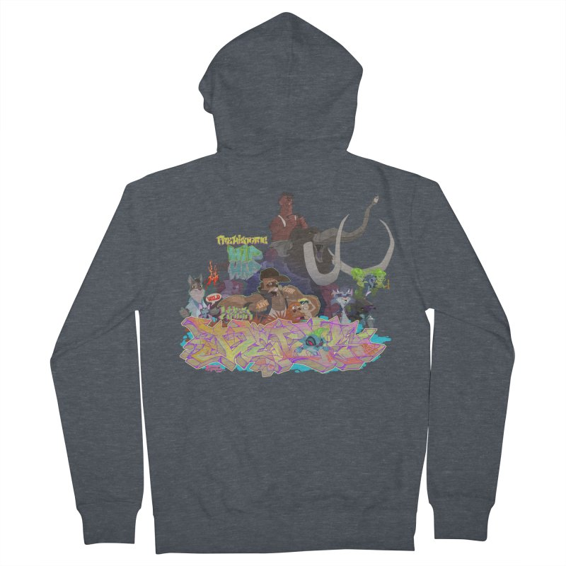 Prehistoric hip Hop Men's French Terry Zip-Up Hoody by Dedos tees